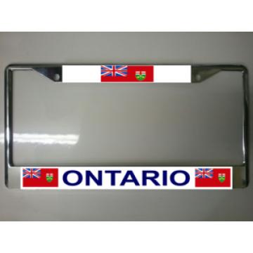 Ontario Canada Chrome License Plate Frame