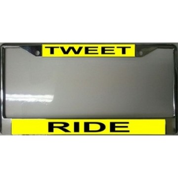 Tweet Ride Chrome License Plate Frame