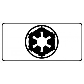 GALACTIC EMPIRE  Photo License Plate