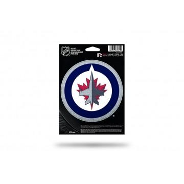 Winnipeg Jets Glitter Die Cut Vinyl Decal