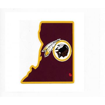 Washington Redskins Home State Vinyl Sticker