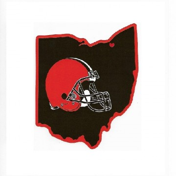 Cleveland Browns Home State Vinyl Sticker