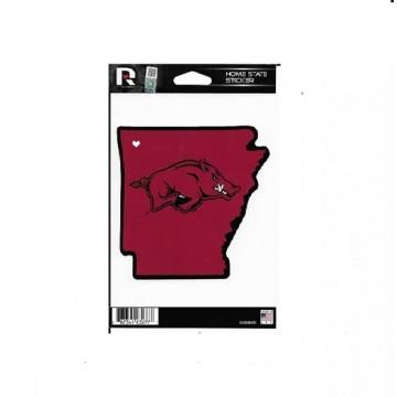 Arkansas Razorbacks Home State Vinyl Sticker