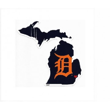 Detroit Tigers Home State Vinyl Sticker