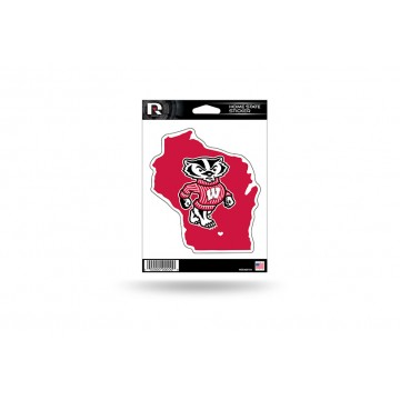 Wisconsin Badgers Home State Vinyl Sticker