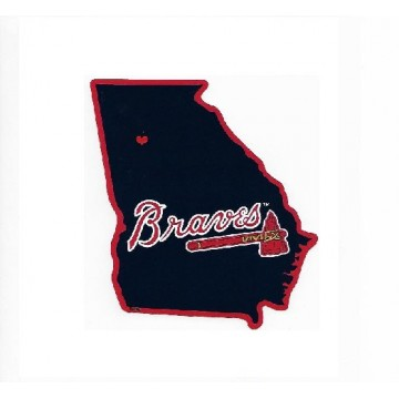 Atlanta Braves Home State Vinyl Sticker