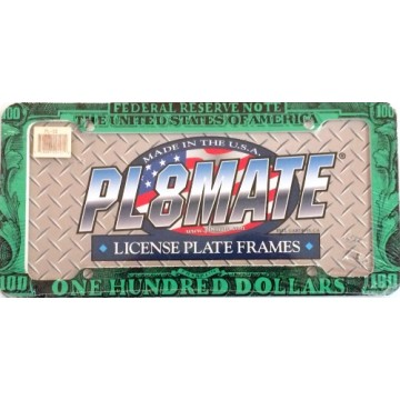 $100 Dollar Plastic License Plate Frame