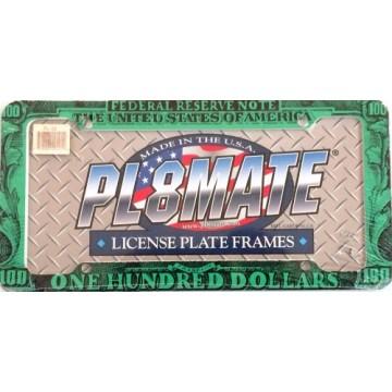 $100 Dollar Plastic License Plate Frame