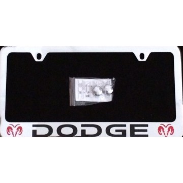 Dodge Solid Brass Thin Top License Plate Frame