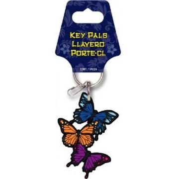 Butterflies Rubber Keychain