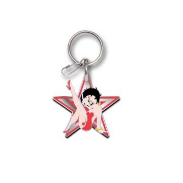Betty Boop Star Enamel Keychain