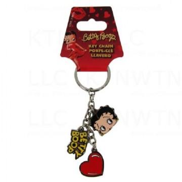Betty Boop Charm Keychain
