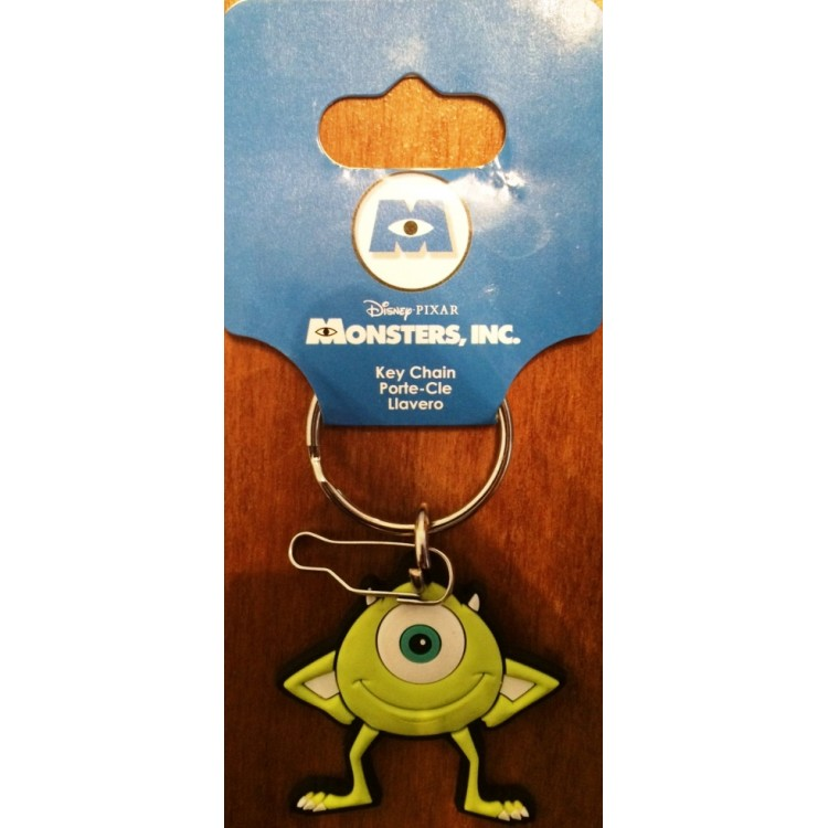 Disney Pixar Monsters Inc  Rubberized Vinyl Mike Key Chain