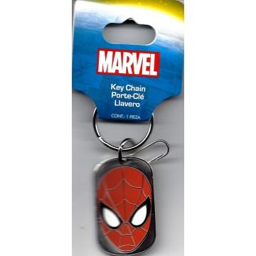 Spider-Man Metal Dog Tag Keychain