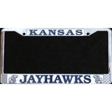 Kansas Jayhawks Chrome Metal License Plate Frame