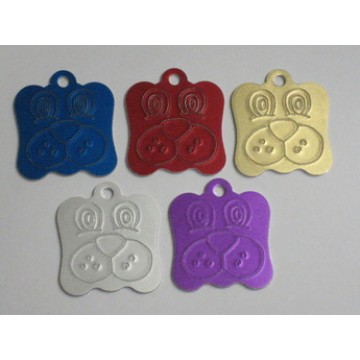 Dog Face Engravable Pet Identification Tags