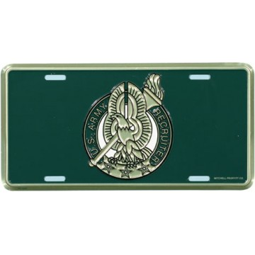 U.S. Army Recruiter Badge License Plate
