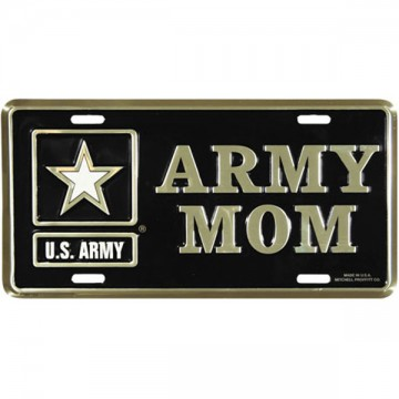 Army Mom Metal License Plate