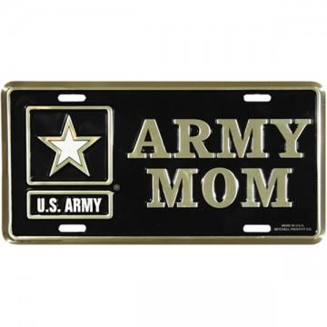 Army Mom Metal License Plate