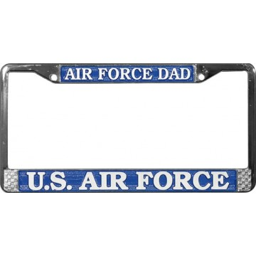 U.S. Air Force Dad Chrome License Plate Frame