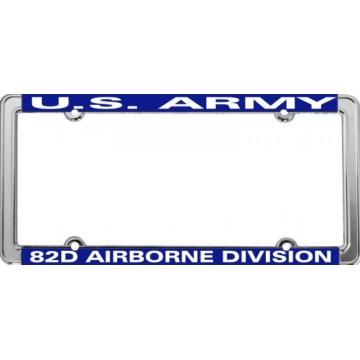 U.S. Army 82nd Airborne Thin Rim Chrome License Plate Frame