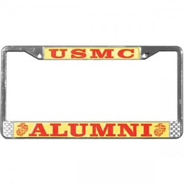 U.S. Marines Alumni Chrome License Plate Frame