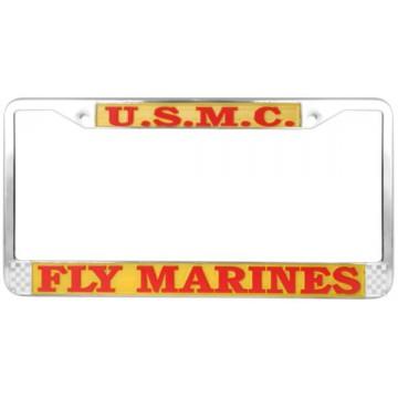 U.S. Marines Fly Marines Chrome License Plate Frame