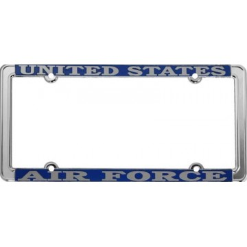 United States Air Force Thin Rim Chrome License Plate Frame