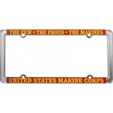 The Few The Proud The Marines Chrome Thin Rim License Plate Frame