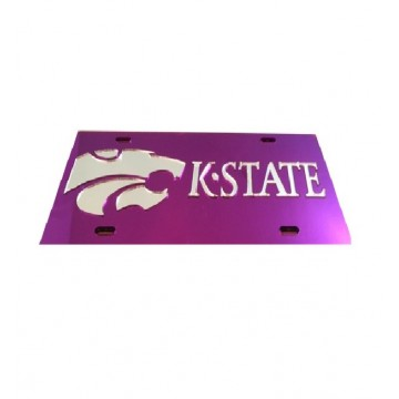 K-State Wildcats Purple Laser License Plate