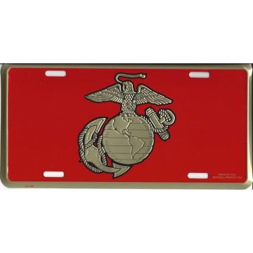 Marine Globe & Anchor License Plate