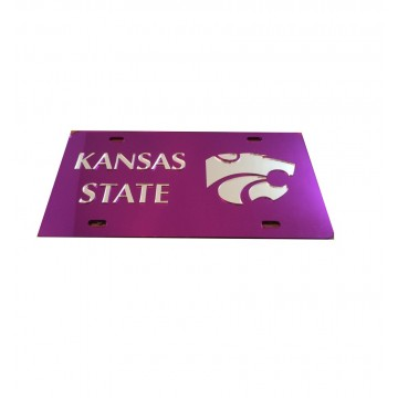 Kansas State Purple Silver Laser Cut License Plate