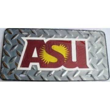 Arizona State Sun Devils ASU Diamond Laser License Plate