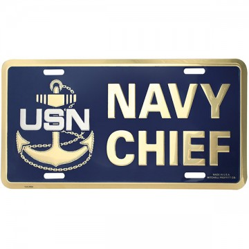 Navy Chief E-7 License Plate