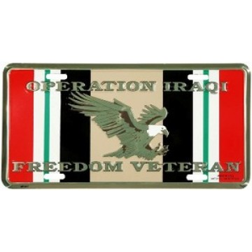 Operation Iraqi Freedom Veteran License Plate