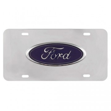 Ford 3-D Official Licensed License Plate-Black Oval
