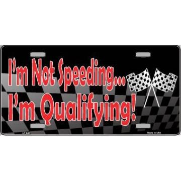 I'm Qualifying Metal License Plate