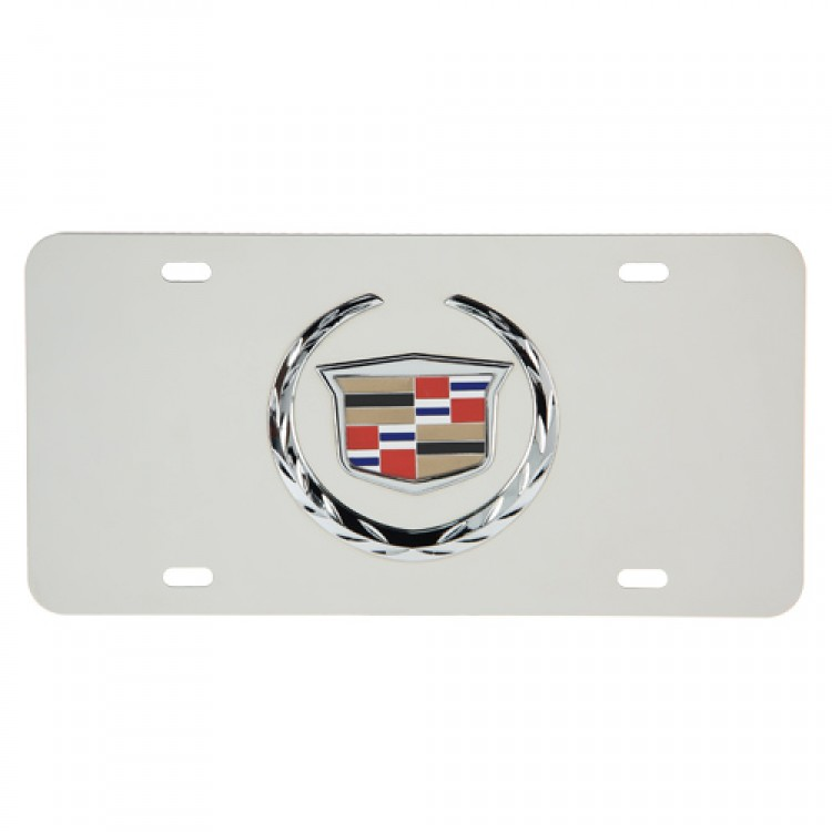 3D Cadillac Stainless Steel License Plate