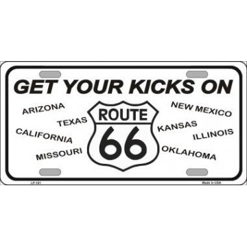 Get Your Kicks On  Route 66 Metal License Plate