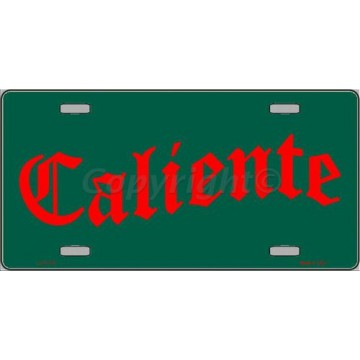 Caliente Metal License Plate