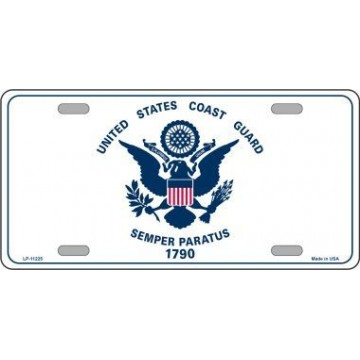 United States Coast Guard Metal License Plate