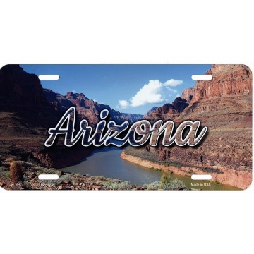 Arizona Scenic Background Metal License Plate