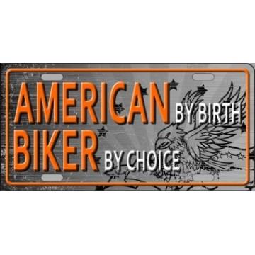 American Biker ... Metal License Plate