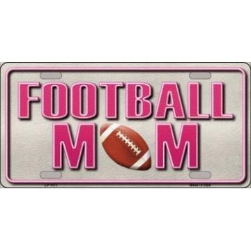 Football Mom Metal License Plate