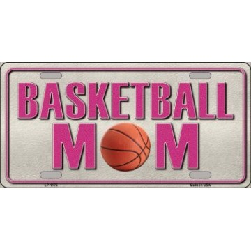 Basketball Mom Metal License Plate