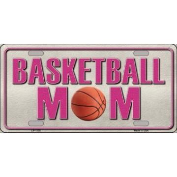 Basketball Mom Metal License Plate