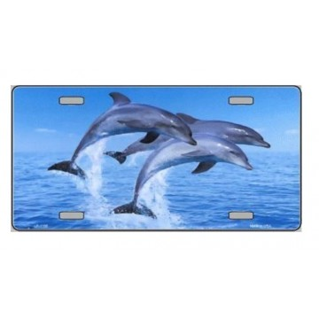 Dolphins  Metal License Plate