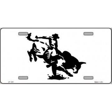 Bull Rider Metal License Plate
