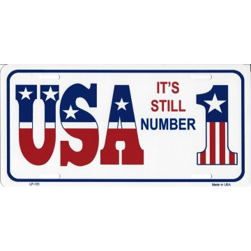 USA It's Still Number One Metal License Plate