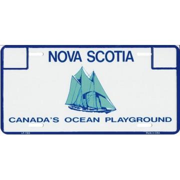 Nova Scotia Metal License Plate